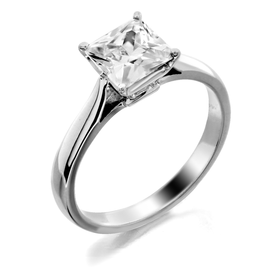 with shank engagement white platinum cut in rings prong diamond emerald solitaire rounded ring