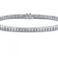 4cttw Princess Cut Channel Set