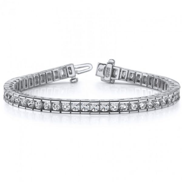 2cttw Round Channel Set with Prong 1
