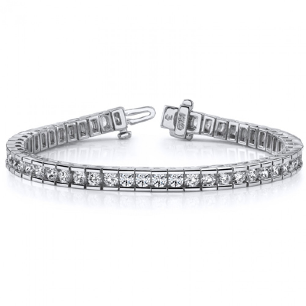 2cttw Round Channel Set with Prong