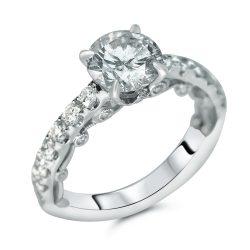 mirco pave designer engagement ring