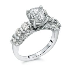 round shared prong engagement ring