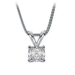 cushion cut solitaire pendant in houston