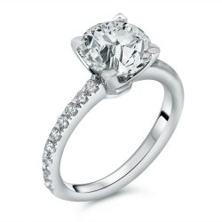 round micro-pave diamond engagement ring