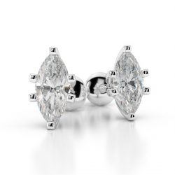 Marquise Cut Diamond Studs