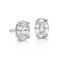 Oval Cut Diamond Studs