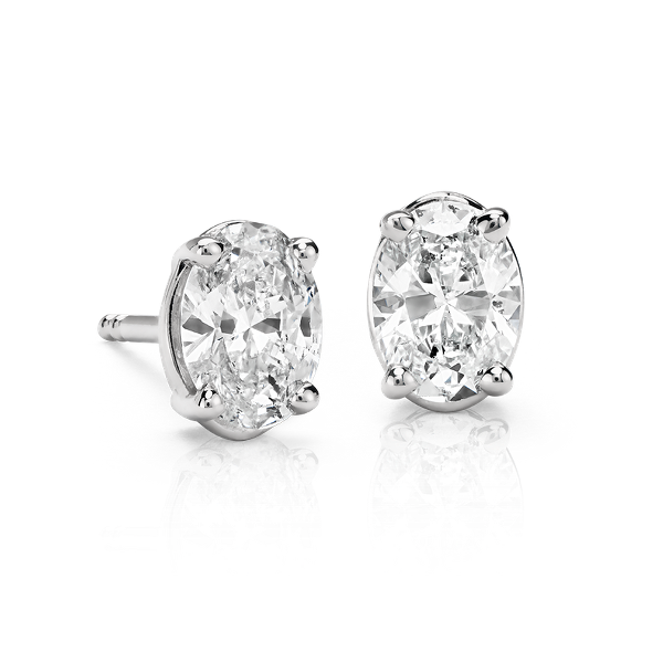 Oval Cut Diamond Studs