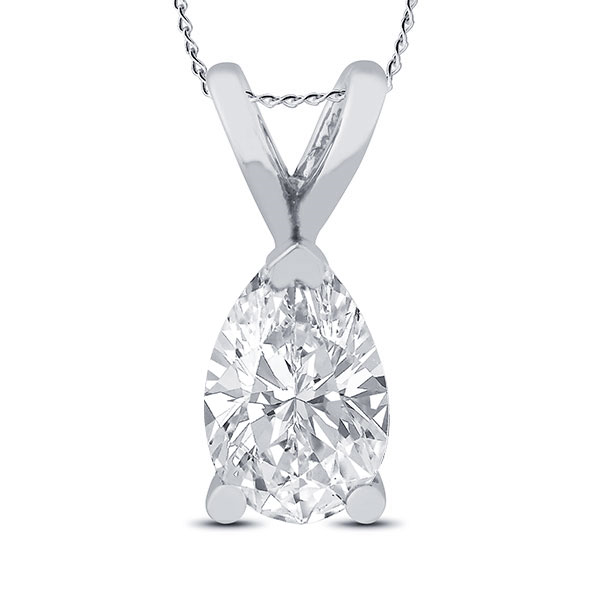 Pear Diamond Solitaire 1