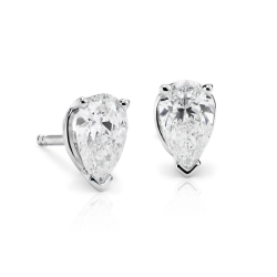 Pear Cut Diamond Studs