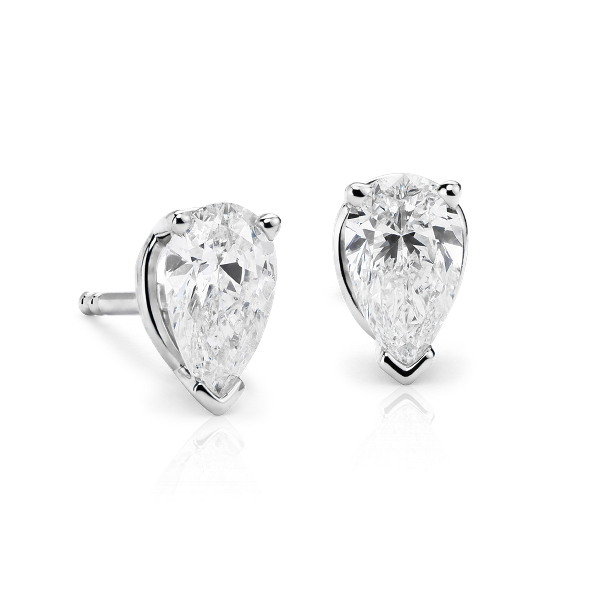 Pear Cut Diamond Studs 1