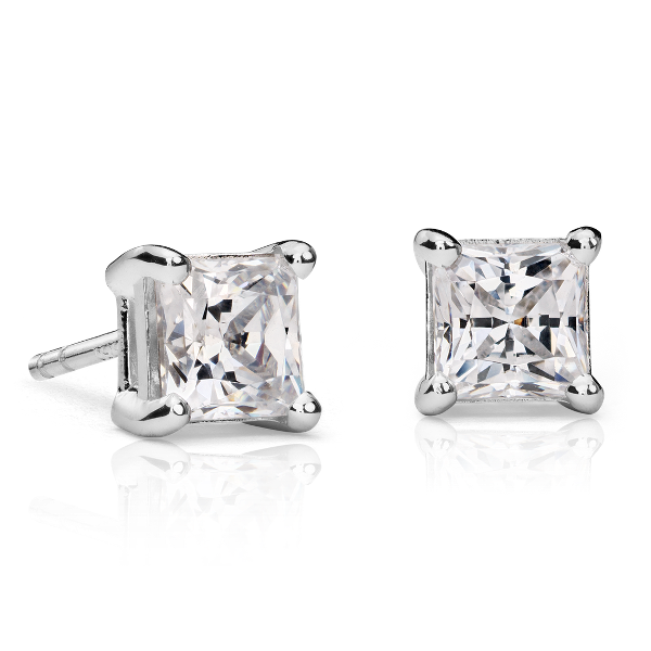 Princess Cut Diamond Studs 1