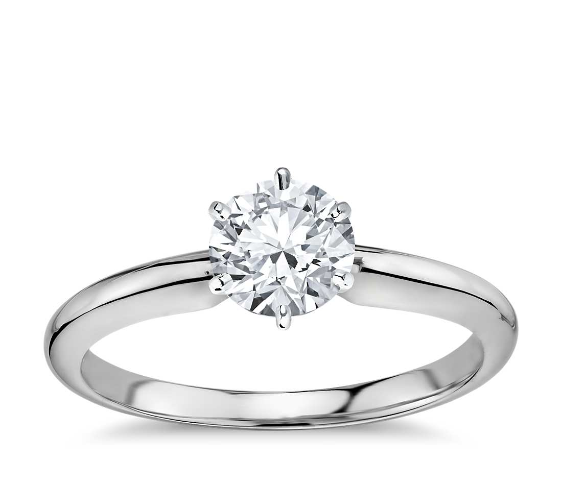 Solitaire 6 Prong Setting Houston Diamond Outlet