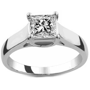 solitaire trellis princess cut