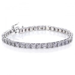 1.5ct Square Prong Bracelet