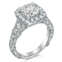 designer style halo with pave on three sides houston