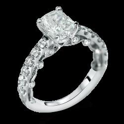 designer filigree antique style cushion engagement ring