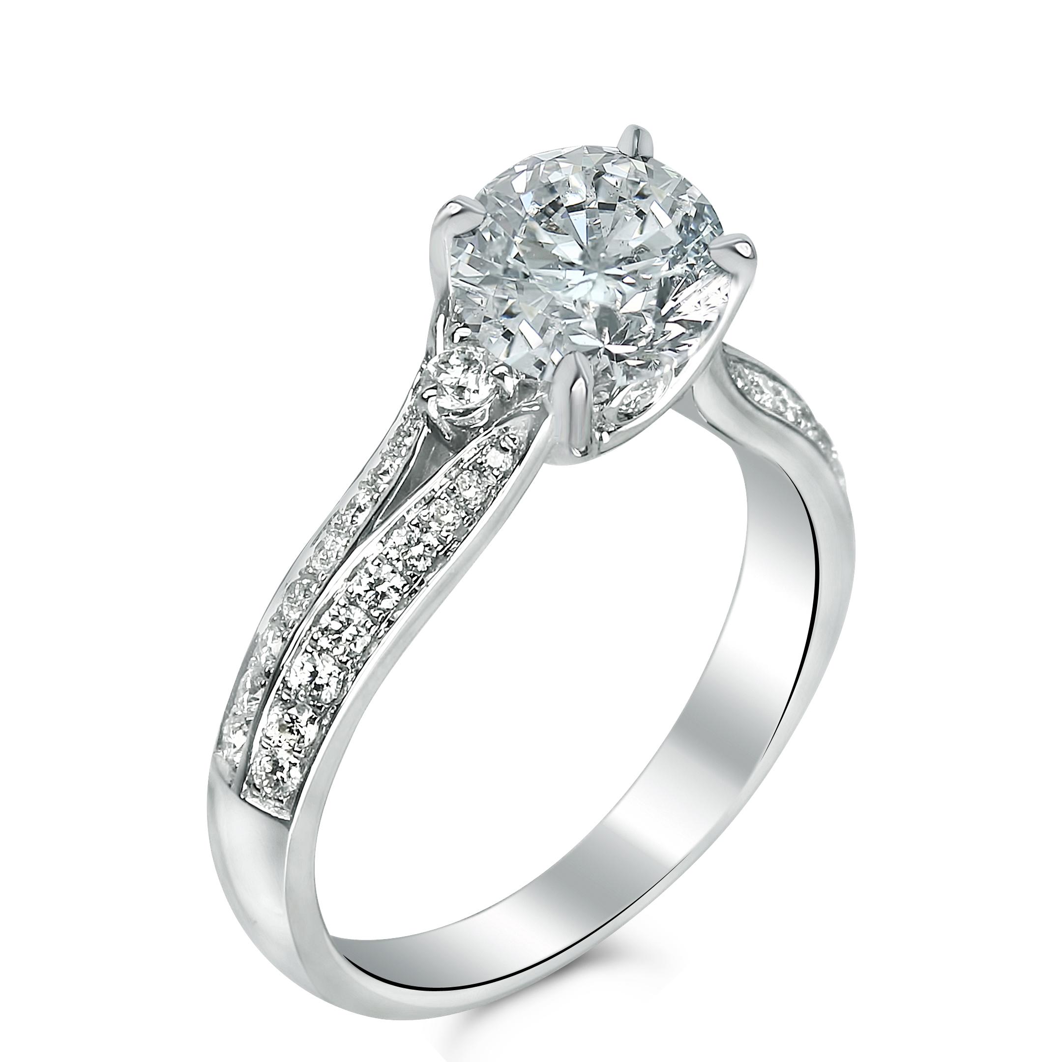 small split shank diamond ring