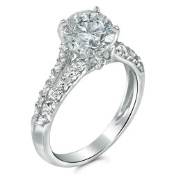 split shank ring with surprise diamond