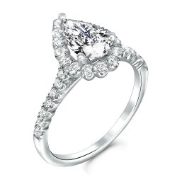pear shape halo ring houston