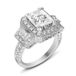 5ct Antique Style Triple Halo Houston