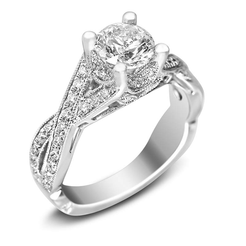 twisted shank engagement ring in houston