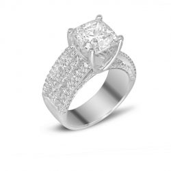 5cttw Princess Cut Engagement Ring