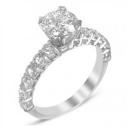 shared prong engagement ring houston