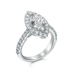 marquise halo engagement ring in houston