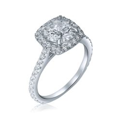 cushion hale engagement ring in houston