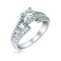 round diamond engagement ring in houston