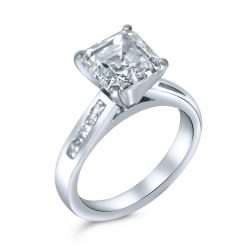 asscher cut diamond engagement ring in houston