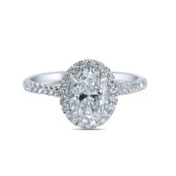 oval halo engagement ring in houston