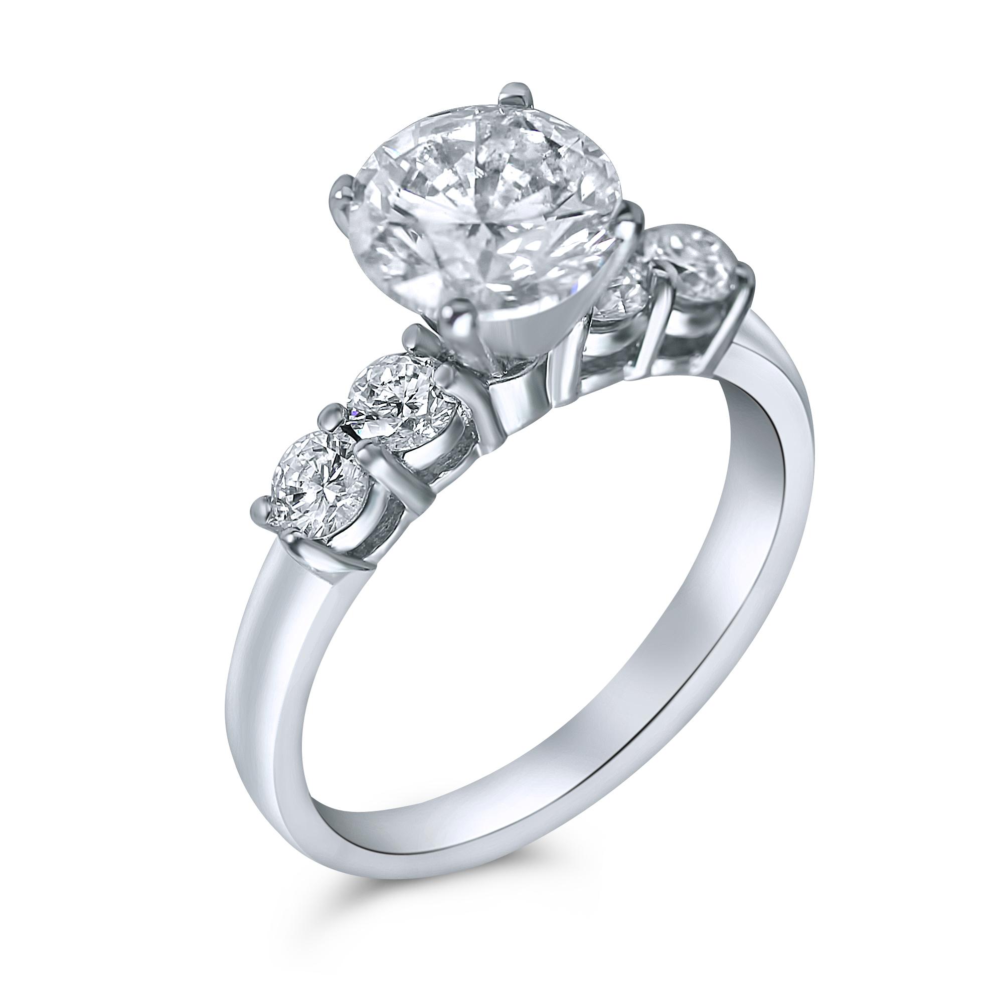round diamond engagement ring in houston