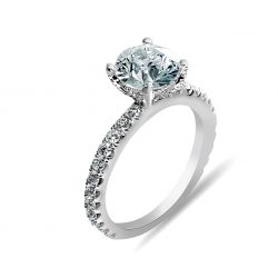 diamond basket engagement ring
