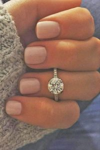 simple pave engagement ring