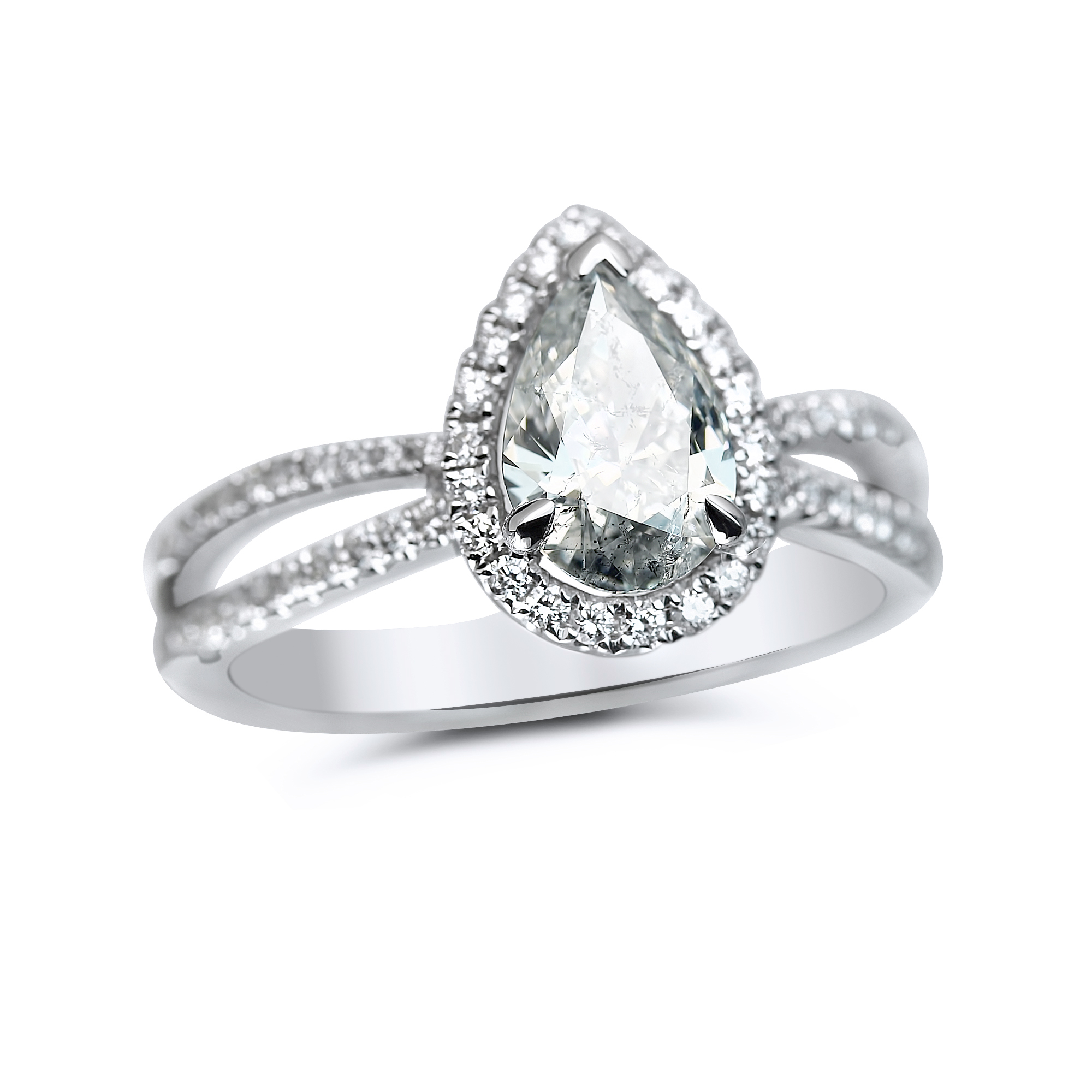 Pear Shaped Engagement Ring in Houston
